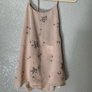 Free People T-Back Blouse